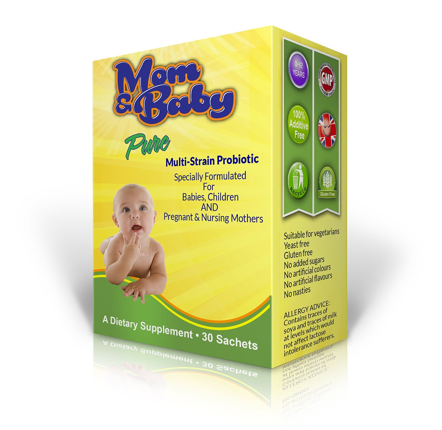 Mom & Baby Pure Probiotic - 30 sachets - Easy Mom and Baby